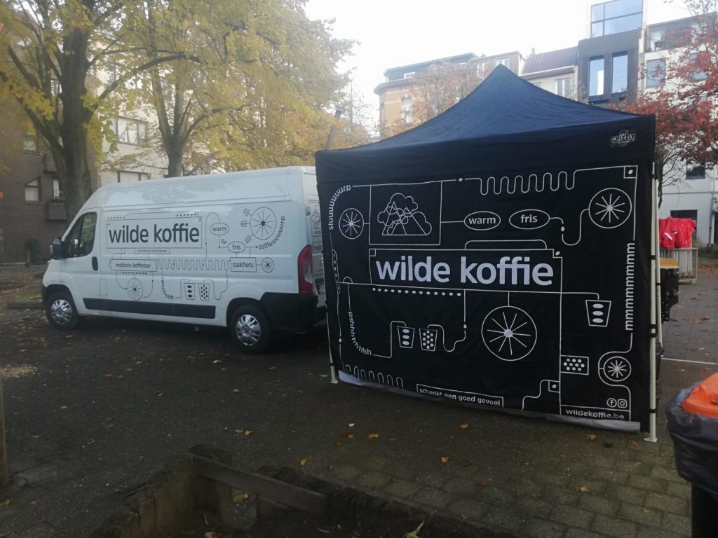 mobiele koffiebar tent